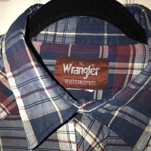 Wrangler Pearl Snap Vintage Western Shirt
